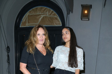 Catherine Bach Catherine Bach and Her Daughter Sophia Isabella Lopez Leave Craig's Restaurant