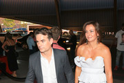 Jeff Gordon and Ingrid Vandebosch are seen during the Showtime, WME IME and Mayweather Promotions VIP Pre-Fight Party for Mayweather vs. McGregor at T-Mobile Arena in Las Vegas, Nevada.