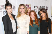 Briana Cuoco, Ashley Jones, Amy Davidson and Lacey Chabert are seen attending the Stand Up For Pits Comedy Benefit at The Improv Comedy Club.