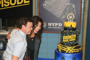 Stephanie Beatriz and Joe Lo Truglio are seen attending Fox's 'Brooklyn Nine-Nine' 99th Episode celebration at CBS Studio Center in Los Angeles, California.
