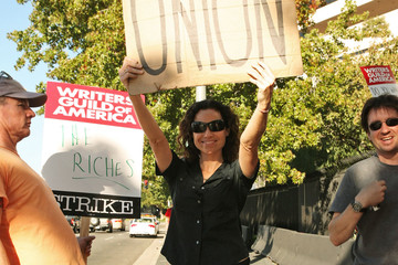 Minnie Driver Celebs on the Picket Line