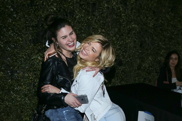 Chanel West Coast Celebrities Leave OK! Magazine's Pre-Oscar Party at BESO Nightclub