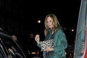 Charles Saatchi and Trinny Woodall leaving the Scott's restaurant London.