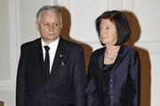 Polish President Lech Kaczynski and scores of others have been killed in a plane crash in Russia. Polish and Russian officials said no-one had survived after the plane apparently hit trees as it approached Smolensk's airport in thick fog. Poland's army chief, central bank governor, MPs and leading historians were among more than 80 passengers. Here, stock image from the recent state visit to Poland by Prince Charles and Camilla just a few weeks ago.