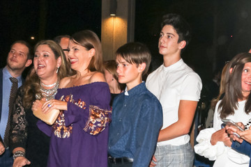 Charlie Cryer Suzanne Cryer, Charlie Cryer And Milo Manheim Outside Ahmanson Theatre In Los Angeles