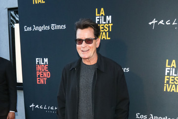 Charlie Sheen Stars Attend The 'Stuntman' Premiere In Los Angeles
