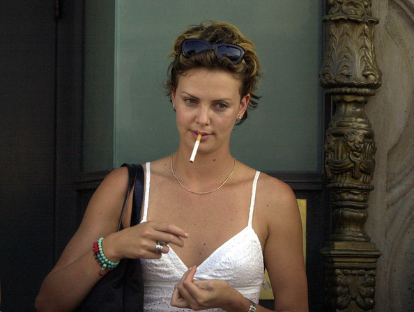 Charlize Theron Photos Photos Smoking 2003 Zimbio