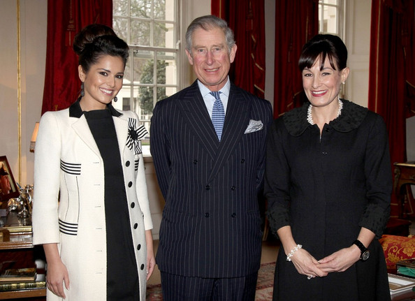 Cheryl Cole Prince Charles met with Cheryl Cole, and the director of the Cheryl Cole Foundation, Kristina Kyriacou. The group convened at Clarence House to discuss how Cole's charity and The Prince's Trust will help provide funds to young people who have struggled in school and are having difficulty finding employment.