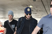 Chris Evans Is Seen at LAX