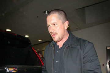 Christian Bale Christian Bale at LAX