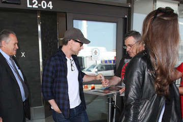Christian Slater Brittany Lopez Christian Slater and Brittany Lopez Are Seen at LAX