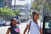 Christina Milian and her daughter, Violet Madison Nash are seen in Los Angeles, California.