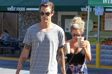 Christopher French Christopher French and Ashley Tisdale at Whole Foods