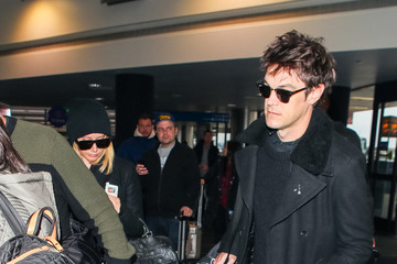 Christopher French Ashley Tisdale And Christopher French At LAX