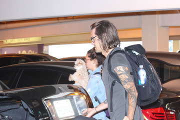 Christopher French Ashley Tisdale and Christopher French Are Spotted at LAX