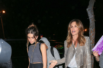 Cindy Crawford Celebrities Step Out for Kendall Jenner's 21st Birthday Party at Catch