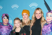 Barbara Alyn Woods, Alyvia Alyn Lind and Natalie Alyn Lind are seen attending Cirque du Soleil presents the Los Angeles premiere event of 'Luzia' at Dodger Stadium in Los Angeles, California.