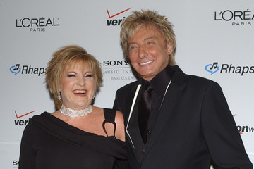 Barry Manilow Lorna Luft Clive Davis Pre-Grammy Party