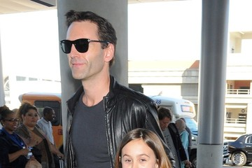 Coco Arquette Courteney Cox at LAX