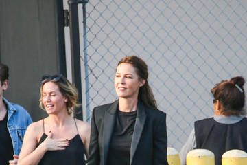 Connie Nielsen Connie Nielsen Visits 'Jimmy Kimmel Live'