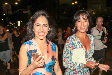 Courtney Reed Gabrielle Ruiz And Courtney Reed Are Seen Outside Pantages Theatre In Hollywood