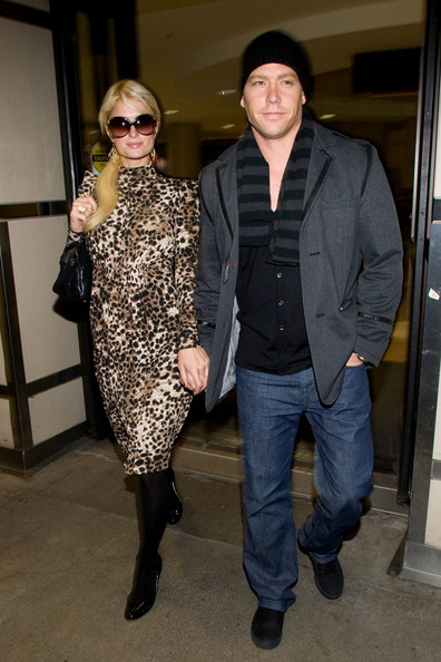 Cy Waits Paris Hilton and Cy Waits arrive at LAX (Los Angeles International Airport) after celebrating Paris Hiltons birthday in New York over the week.