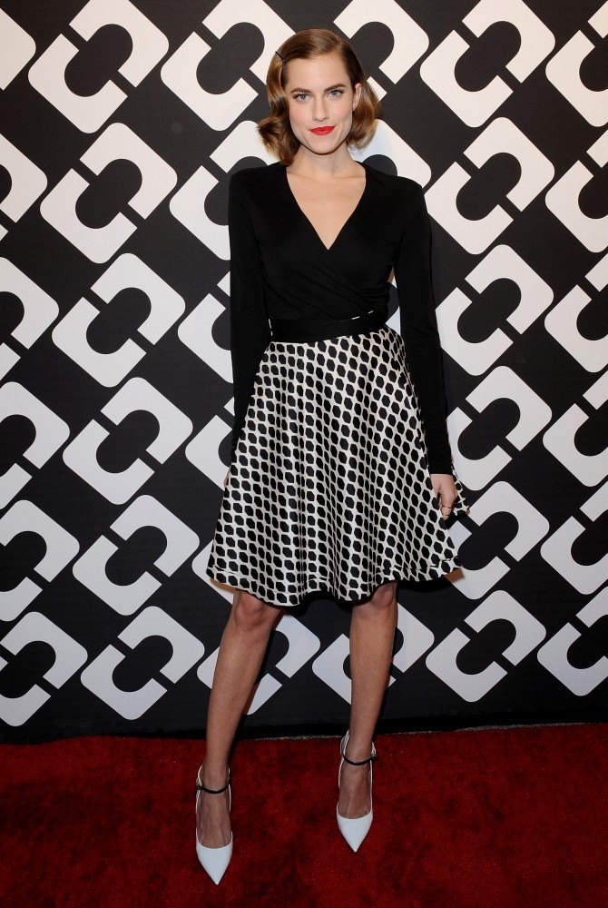 "Diane Von Furstenberg&squot;s ""Journey of a Dress"" 40th Anniversary Party..Wilshire May Company Building, Los Angeles, CA..January 10, 2014..Job: 140110A1..(Photo by Axelle Woussen/Bauer-Griffin)..Pictured: Allison Williams."