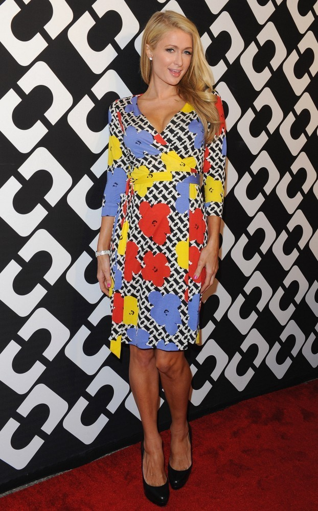 "Diane Von Furstenberg&squot;s ""Journey of a Dress"" 40th Anniversary Party..Wilshire May Company Building, Los Angeles, CA..January 10, 2014..Job: 140110A1..(Photo by Axelle Woussen/Bauer-Griffin)..Pictured: Paris Hilton."