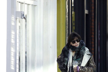 Daisy Lowe Daisy Lowe with a Smoothie