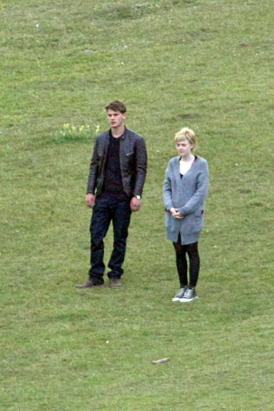 Dakota Fanning and Jeremy Irvine Filming 'Now is Good' 2
