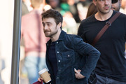 Daniel Radcliffe is seen at 'Jimmy Kimmel Live' in Los Angeles, California on February 6, 2019.