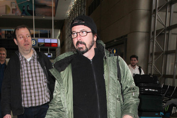 Dave Grohl The Foo Fighters Are Seen at LAX