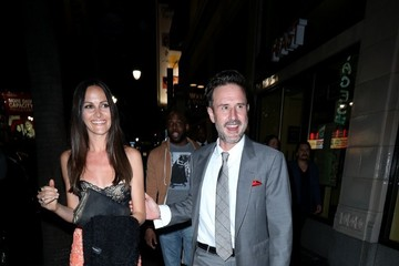 David Arquette Christina McLarty David Arquette Out in Hollywood