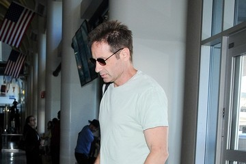 David Duchovny David Duchovny at LAX