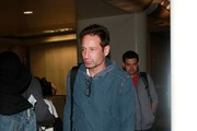 David Duchovny Arrives at LAX