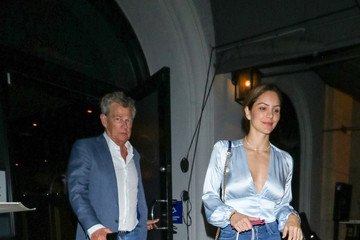 David Foster Katharine McPhee Outside Craig's Restaurant In West Hollywood