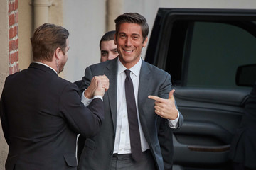 David Muir David Muir at 'Jimmy Kimmel Live'