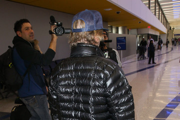 David Spade David Spade At LAX International Airport