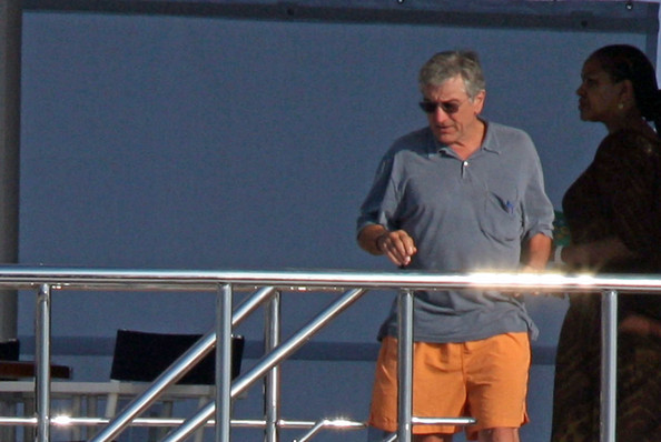 Grace Hightower Actor Robert De Niro vacations in the French Riviera with his family, wife Grace Hightower, their son Elliot (b. 1998), and De Niro's three older sons, Raphael, Julian Henry, and Aaron Kendrick, from his previous relationships. They enjoy some time on the yacht and later dine at Tetou restaurant on the beach.