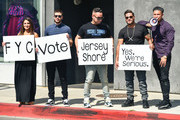 Deena Nicole Cortese, Vinny Guadagnino, Michael Sorrentino, Ronnie Ortiz-Magro And Pauly D Promote 'Jersey Shore - Family Vacation'