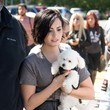 Demi Lovato Brings Her Dog to Work