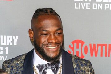 Deontay Wilder Tyson Fury At 'Fury vs. Wilder' Fight At The Staples Center
