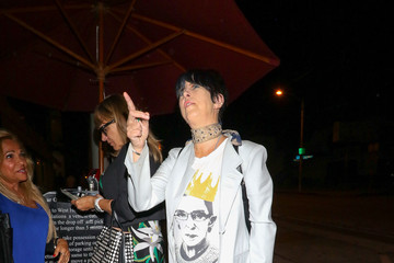 Diane Warren Diane Warren Outside Craig's Restaurant In West Hollywood