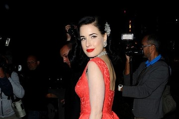 Dita Von Teese Celebs Attend a Boat Party