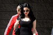Dita Von Teese Steps Out with a Friend
