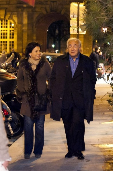 Dominique Strauss-Kahn Out with His Wife