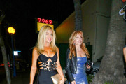 Donna DErrico and Tracey Bregman outside Delilah Nightclub in West Hollywood