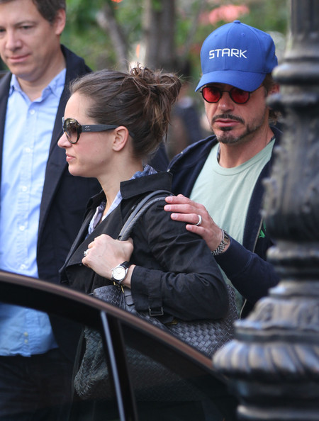 Robert Downey Jr  and His Wife Go to the Airport - Robert