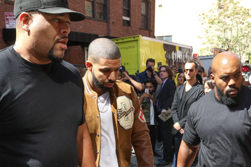 Drake Guests Arrive at the Kanye West Fashion Show in New York