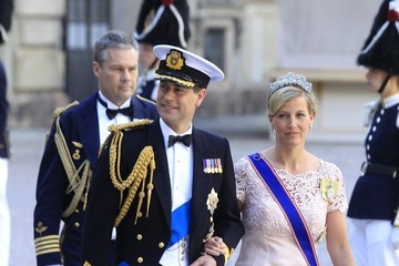 Duke of Wessex Arrivals at the Swedish Royal wedding